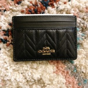 Coach Quilted Leather Flat Card Case